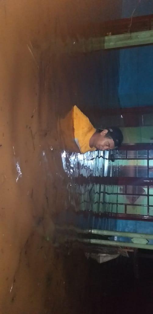 Bencana Banjir Yang Merendam Beberapa Rumah Di Desa Manggungharja